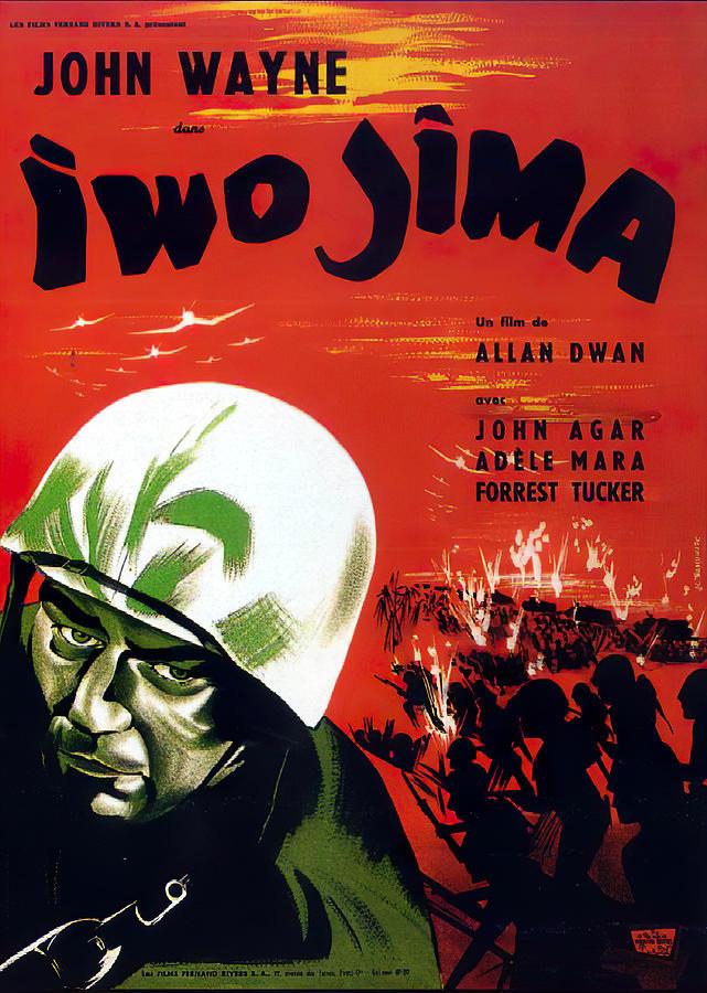 sands Of Iwo Jima, With John Wayne, 1950 Mixed Media