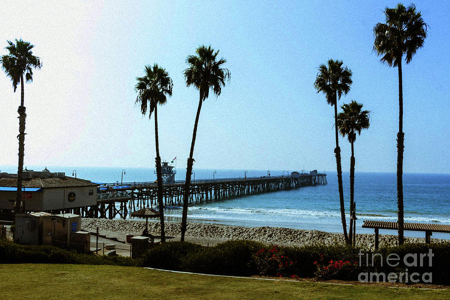 Santa Monica - Showing the Pier by Doc Braham