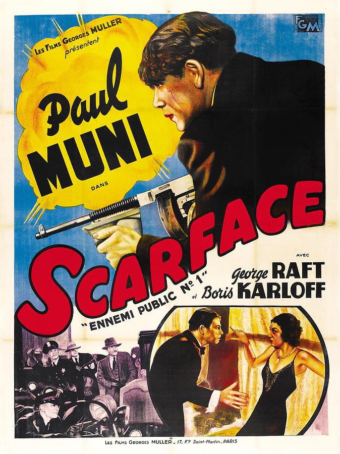 scarface - 1932 Mixed Media