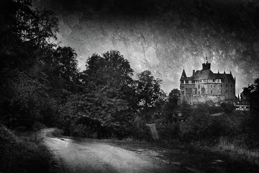 Black And White Photograph - Schloss Berlepsch Castle by Mark Robert Davey