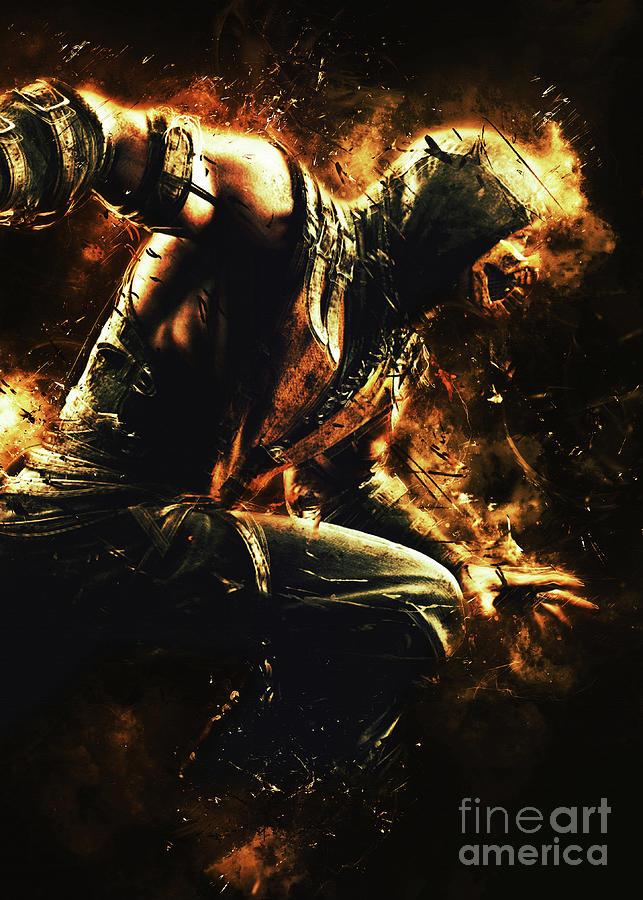 Scorpion Mortal Kombat Digital Art By Long Art