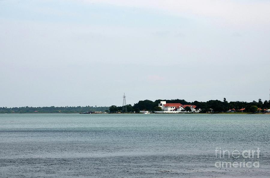Sea Ocean And Tropical Forest Jungle With Communication Tower In Jaffna Peninsula Sri Lanka Photograph
