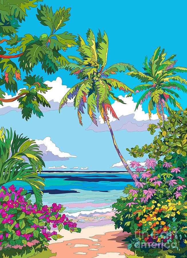 Secret Beach Digital Art
