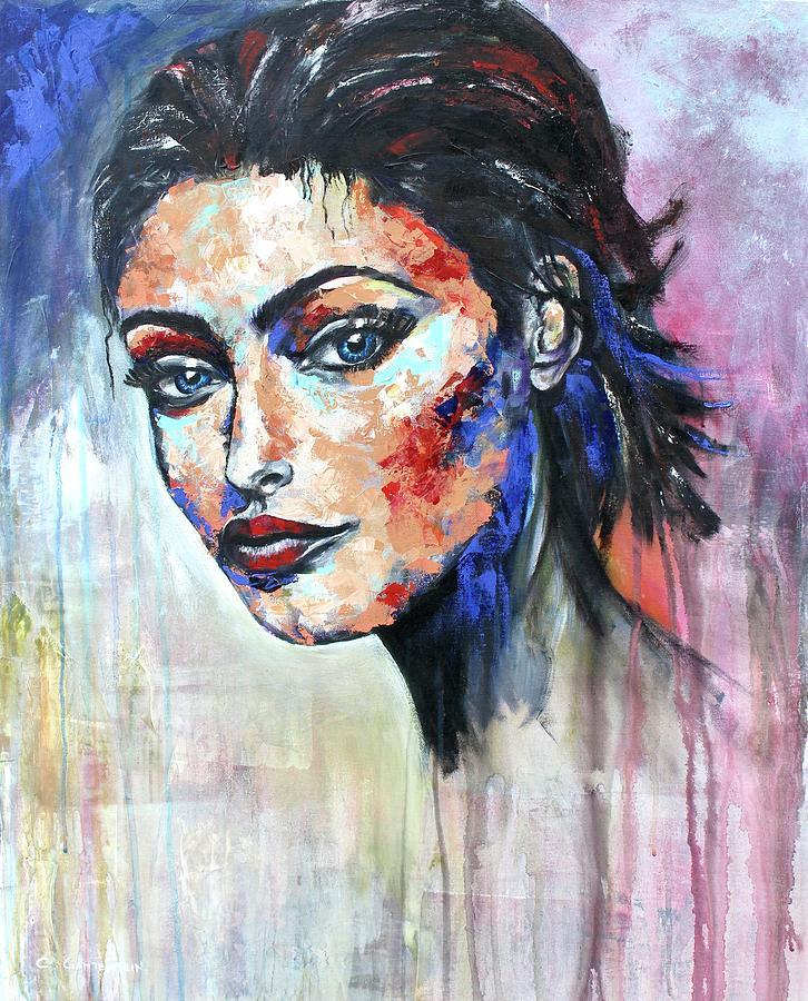 Portraits Mixed Media - Shape by Claudia Gantenbein