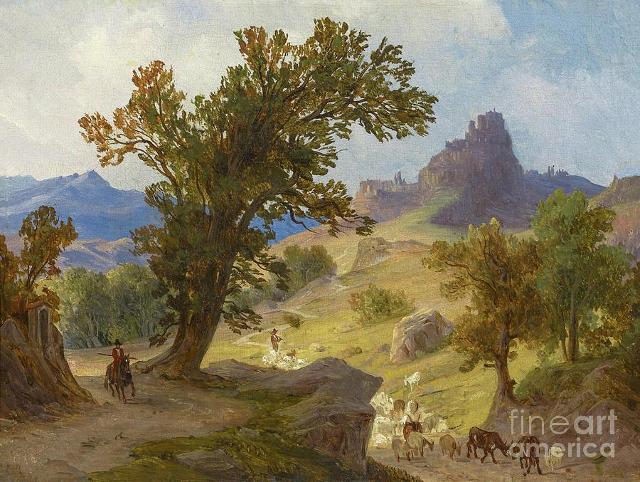 Shepherds below Cervara in Latium by August Ahlborn
