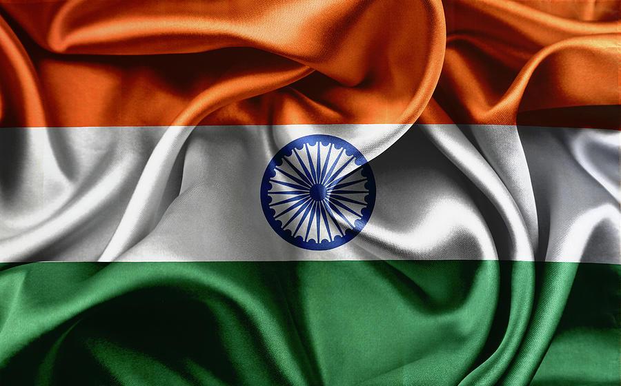 Silky India Flag Photograph