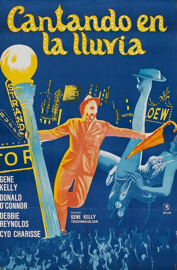 singin In The Rain, With Gene Kelly, 1952 Mixed Media