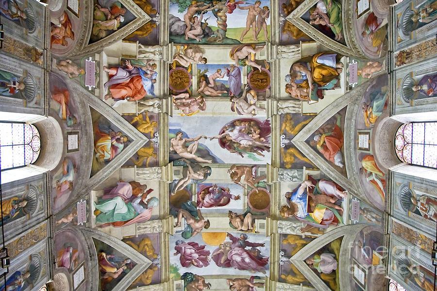 Sistine Chapel Ceiling, 1512 Painting by Michelangelo Buonarroti