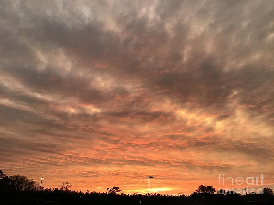 Smokey Sunset Photograph
