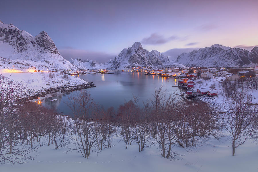 Snowy Village 5 by Francis Ansing