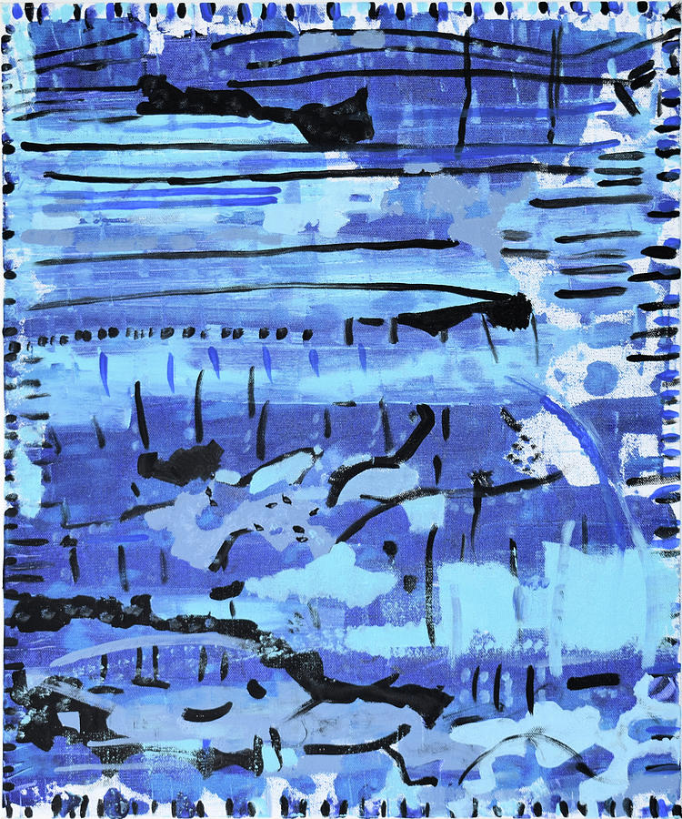 Colorado Painting - Something Blue by Pam Roth OMara