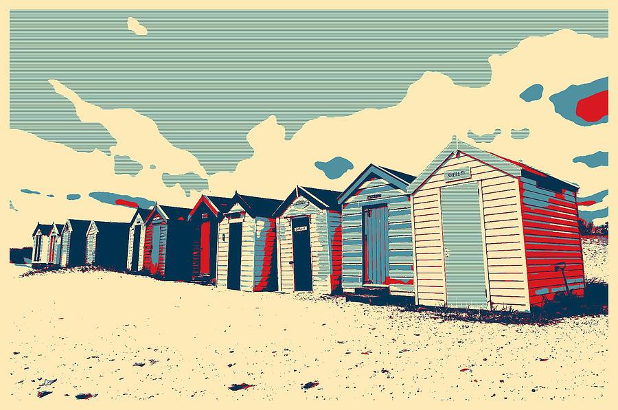 Beach Photograph - Southwold Beach Huts by Paul Cullen