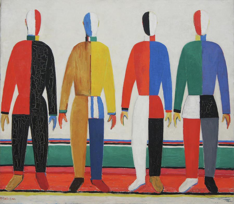 Kazimir Malevich Painting - Sportsmen by Kazimir Malevich