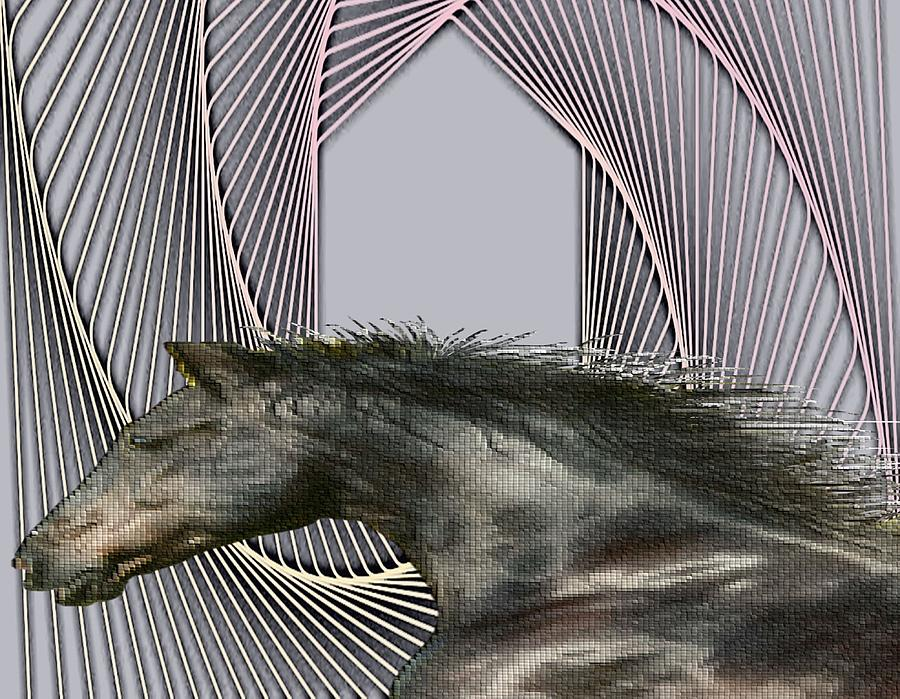 Wildlife Mixed Media - Stallion by Belinda Threeths