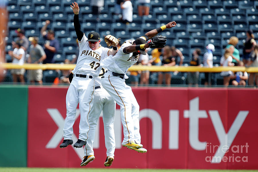 Starling Marte and Gregory Polanco Photograph by Justin K. Aller