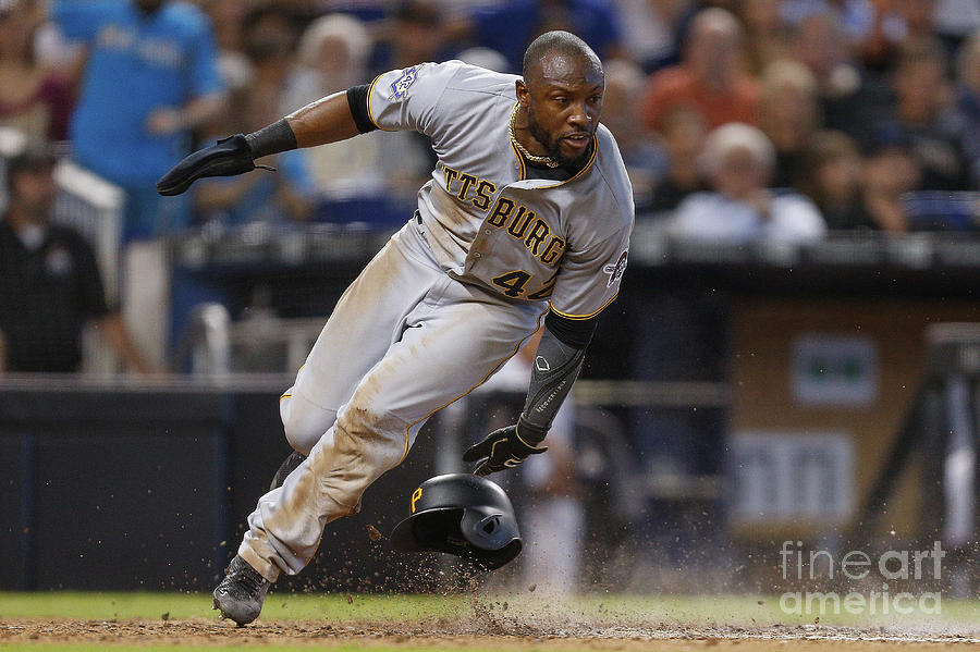Starling Marte Photograph by Michael Reaves