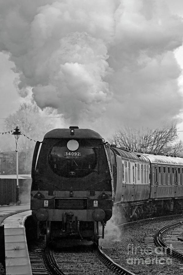 Steam locomotive 34092 City Of Wells by David Birchall