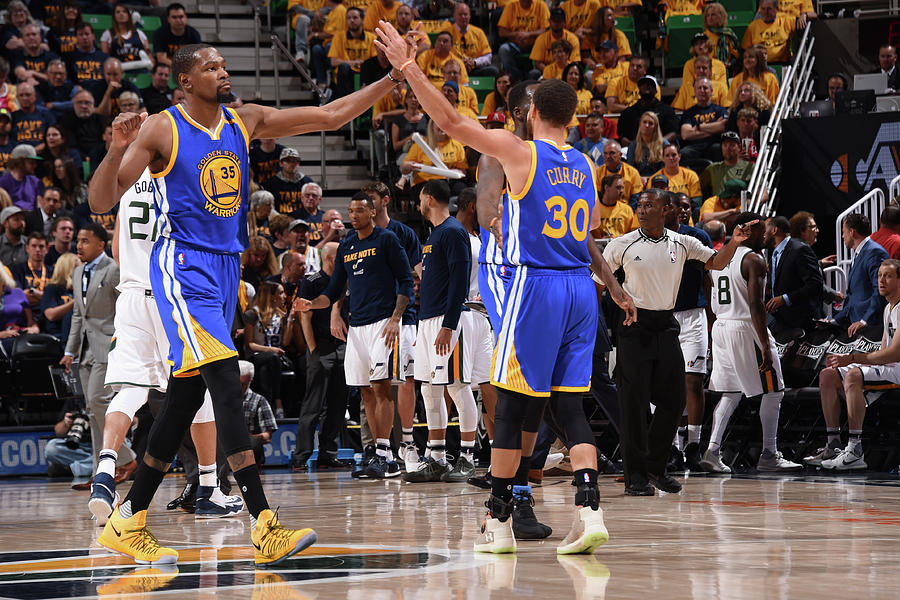 Stephen Curry and Kevin Durant Photograph by Andrew D. Bernstein