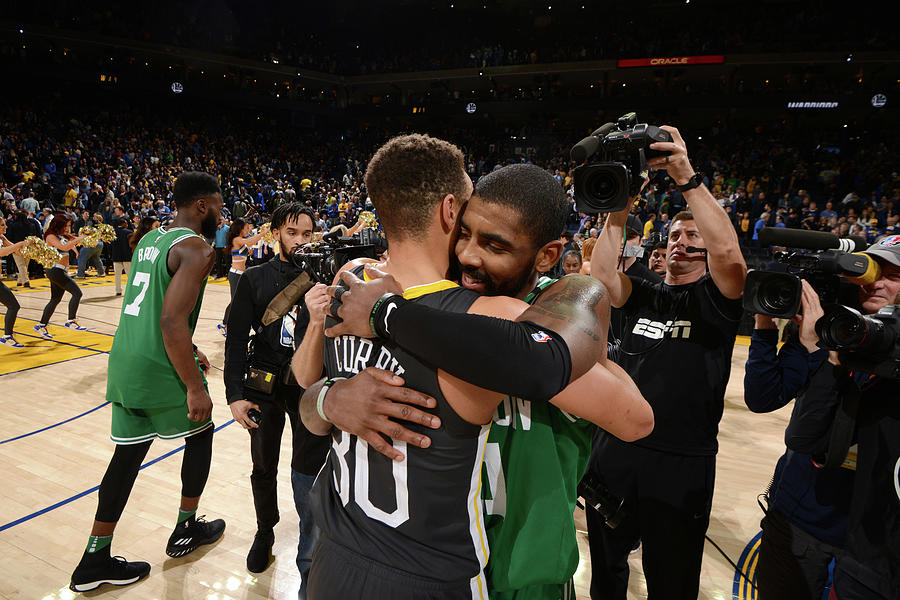 Stephen Curry and Kyrie Irving Photograph by Noah Graham