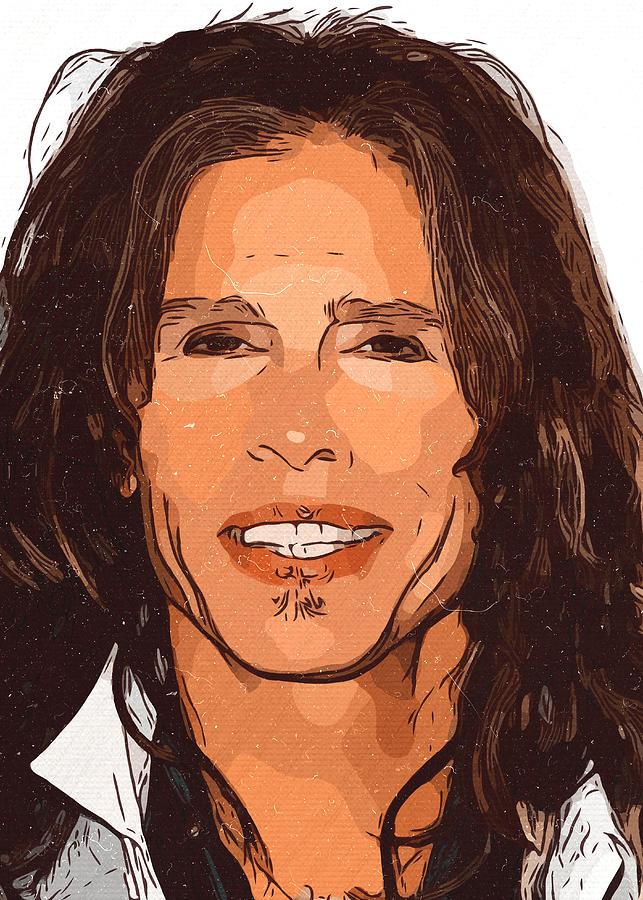 Steven Tyler Painting - Steven Tyler Artwork by New Art