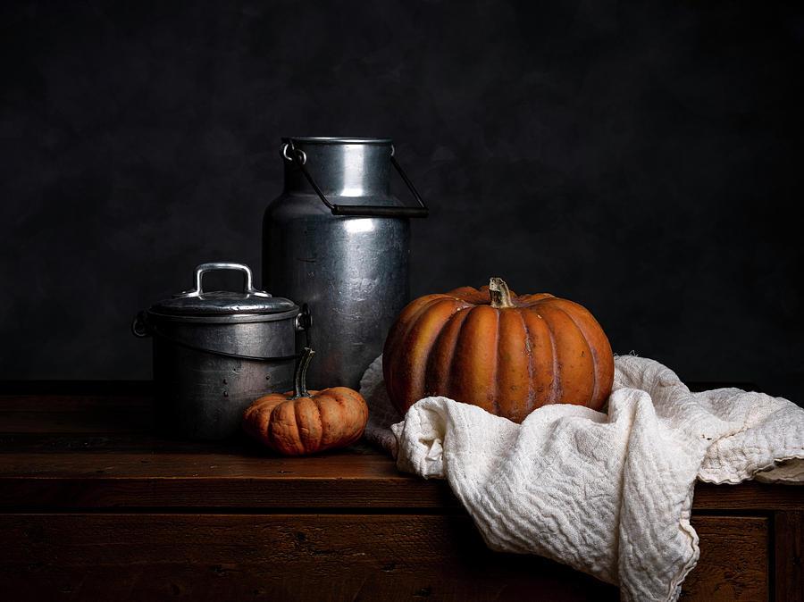 Still Life With Pumpkin Photograph