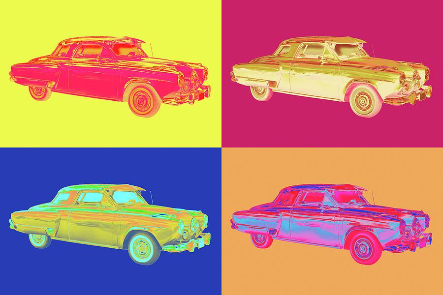 Studebaker Champian Antique Car Pop Art Photograph
