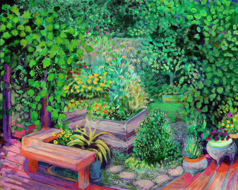 Summer In The Garden Painting
