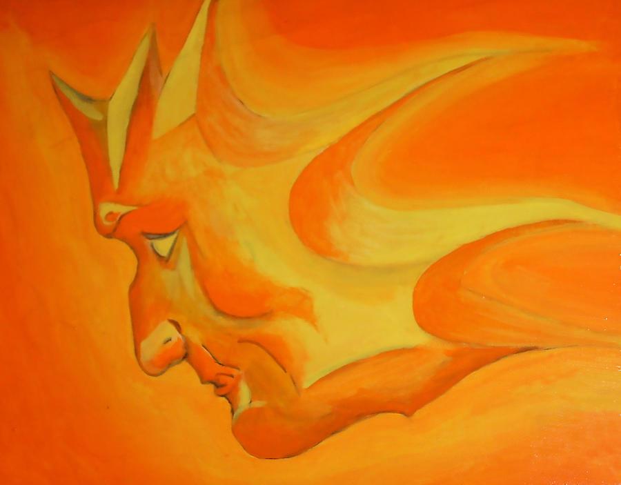 Sun Painting - Sun Face by Jeremy Edsall