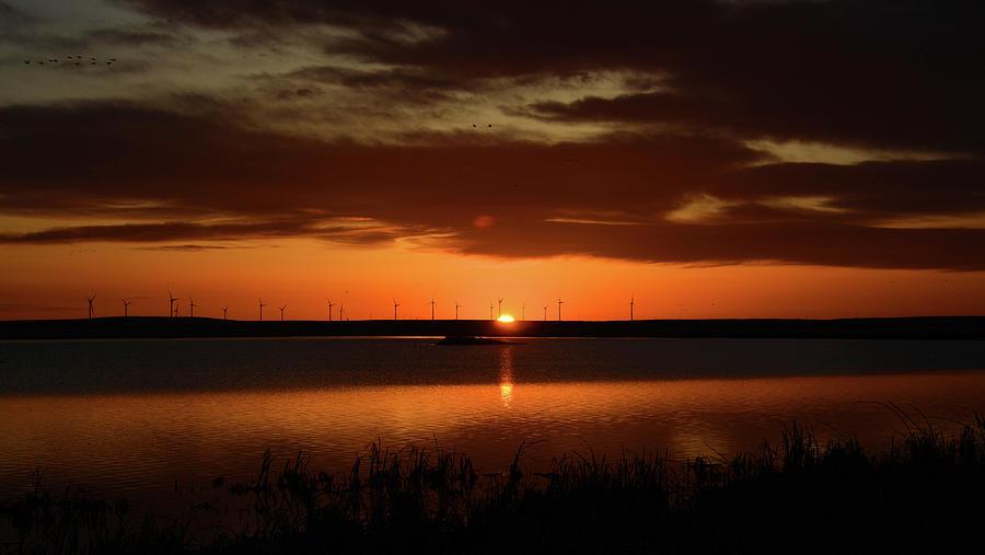 Sunrise At Freezout Lake Photograph
