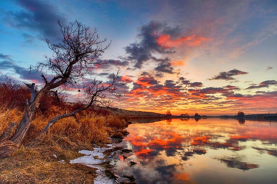 Sunrise At Wanawish by Harold Carlson