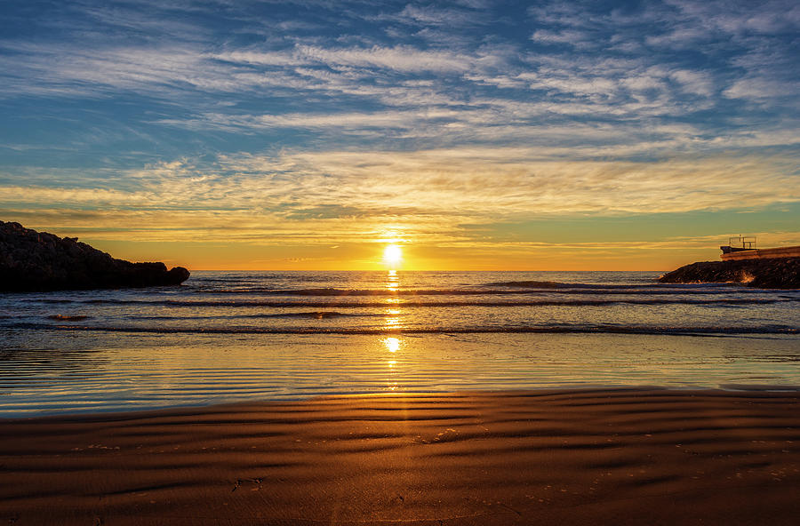 Cala Photograph - Sunrise From The Retor Cove, Oropesa by Vicen Photography