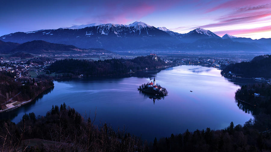Sunrise over Lake Bled from Mala Osojnica by Ian Middleton