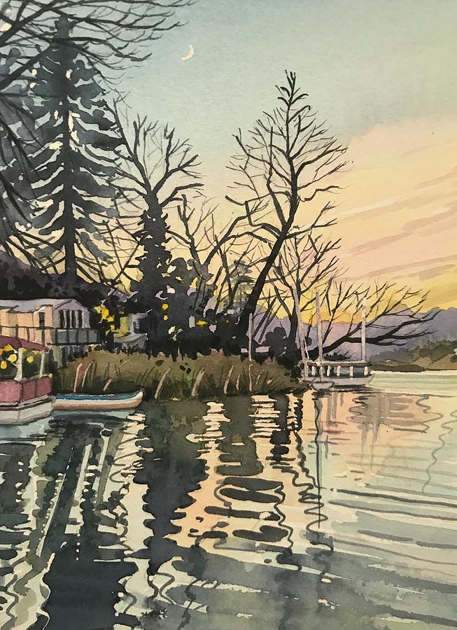 South Lakeshore - Dusk Painting