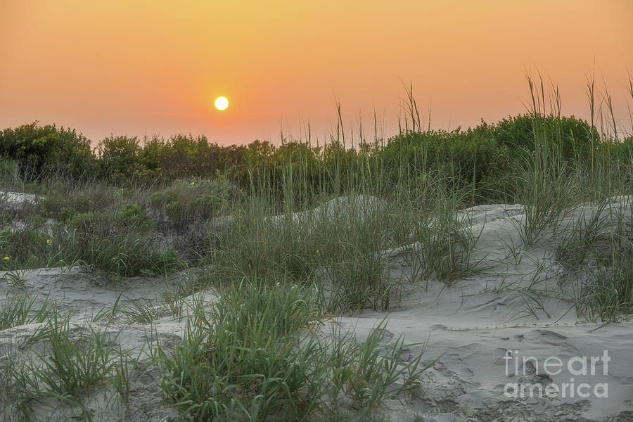 Sunset Over The Dunes Photograph