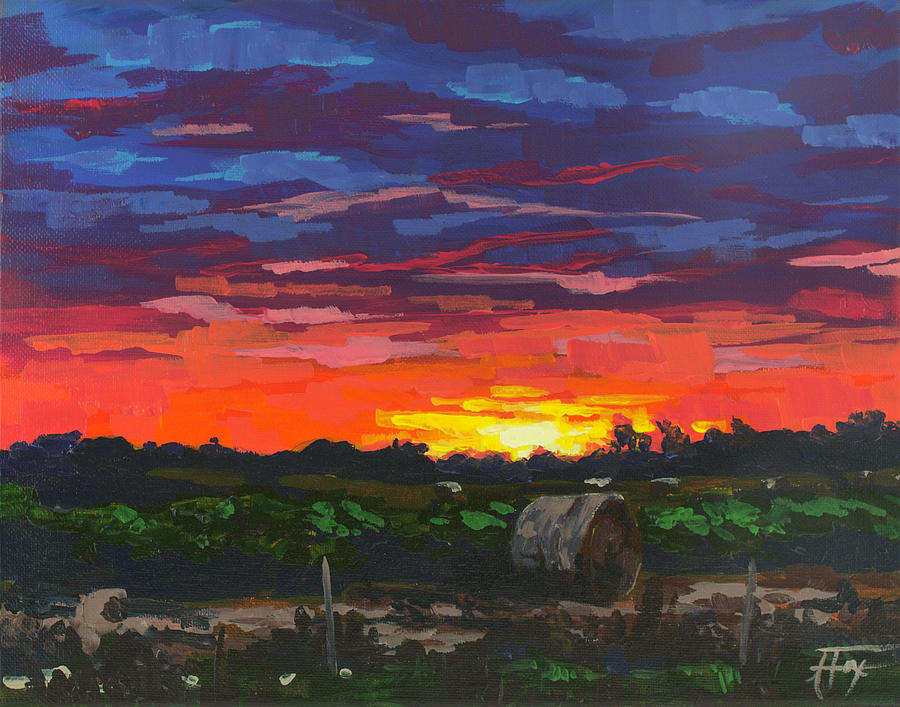 Houston Painting - Sunset Soliloquy by Allison Fox