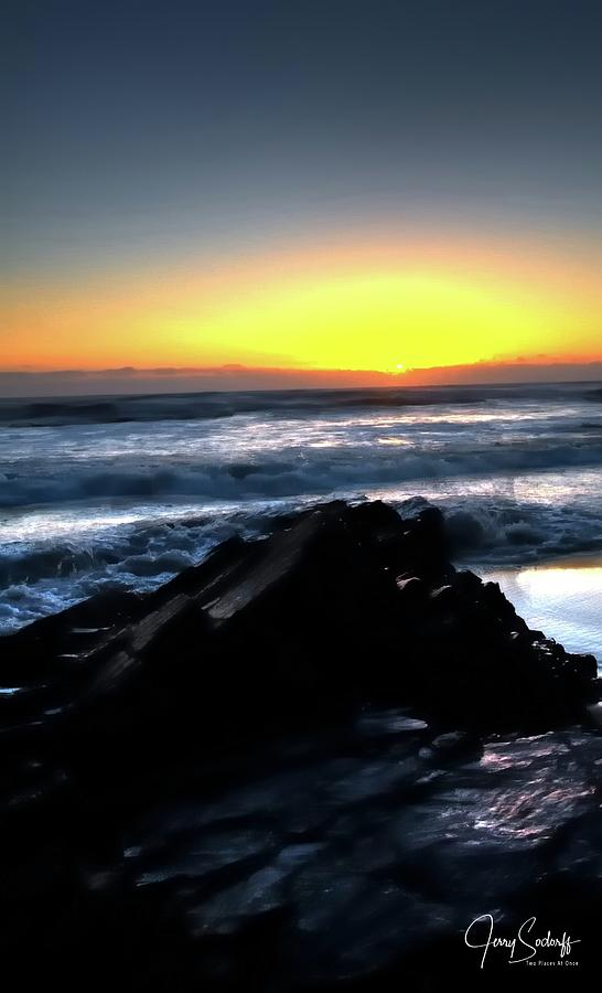 Sunset Waves 17856 by Jerry Sodorff