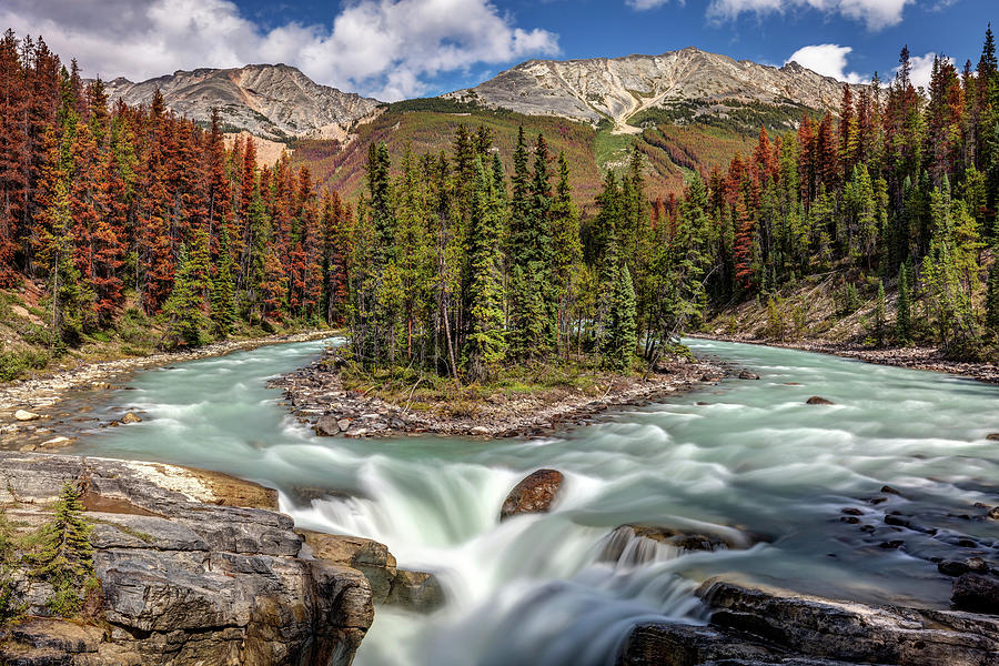 Sunwapta Falls In Jasper National Park Photograph