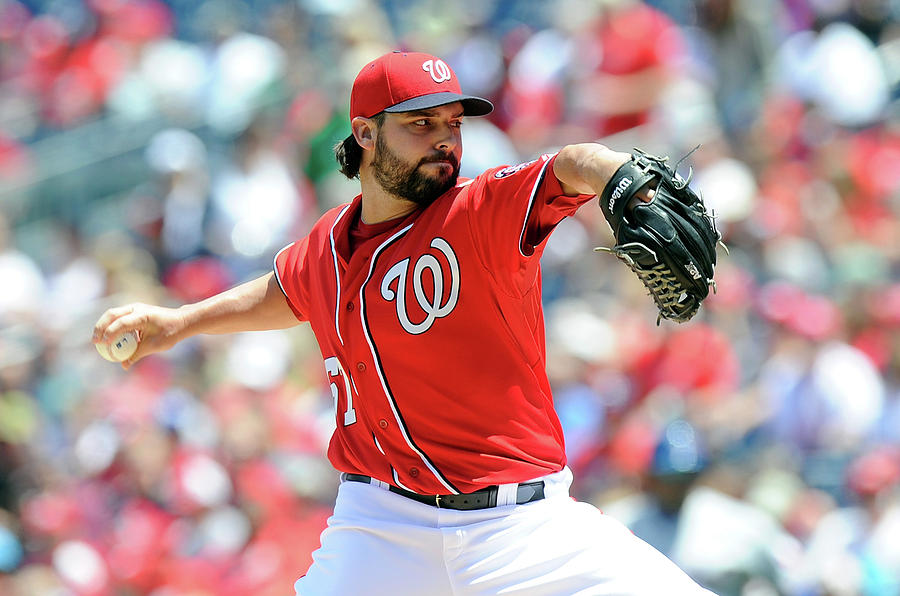 Tanner Roark Photograph by Greg Fiume