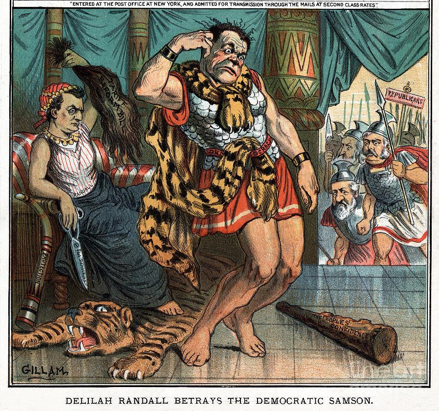 Tariff Cartoon, 1884 by Bernhard Gillam