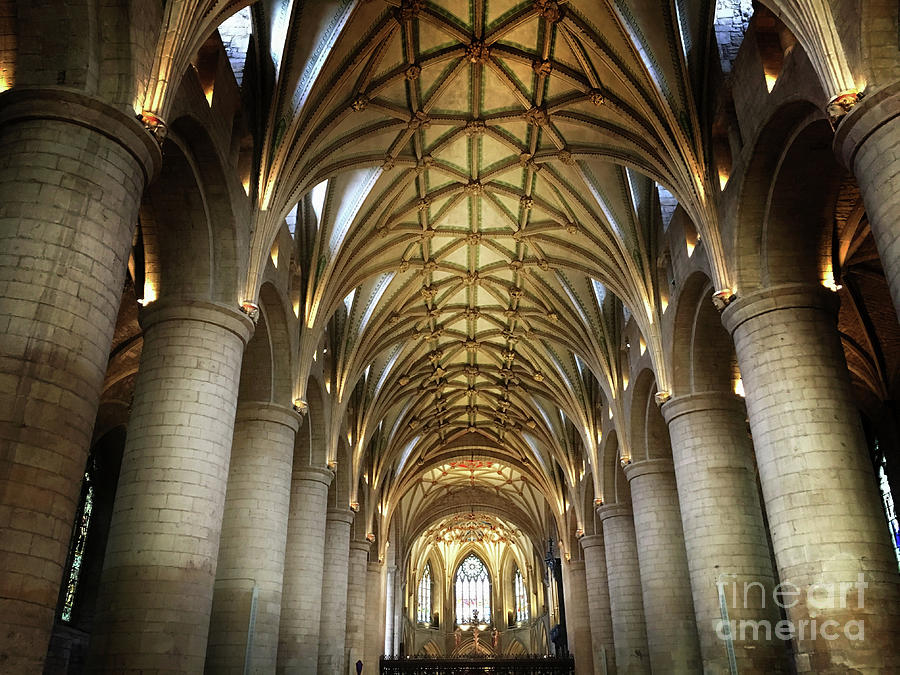Abbey Photograph - Tewkesbury Abbey Interior by Tom Gowanlock