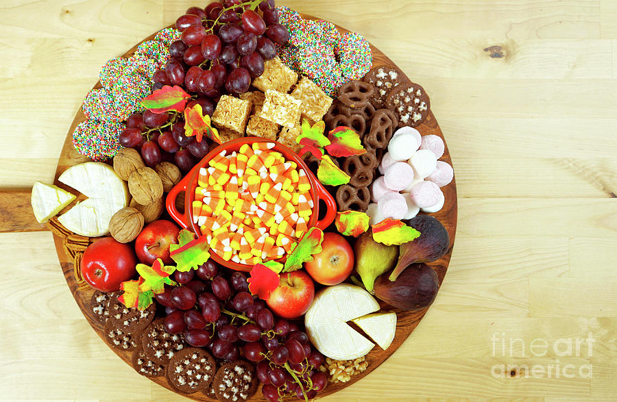 Thanksgiving Cheese And Dessert Grazing Platter Charcuterie Board Photograph By Milleflore Images