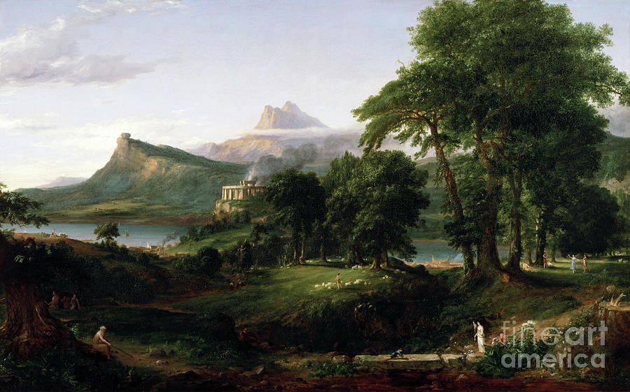 The Arcadian or Pastoral State by Thomas Cole