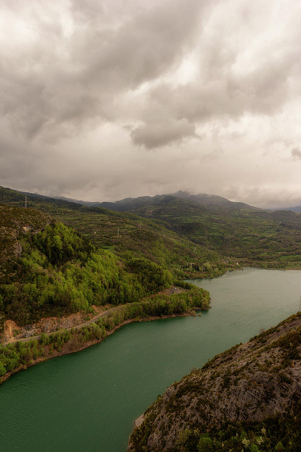 The Bubal Reservoir In The Pyrenees Of Huesca Photograph