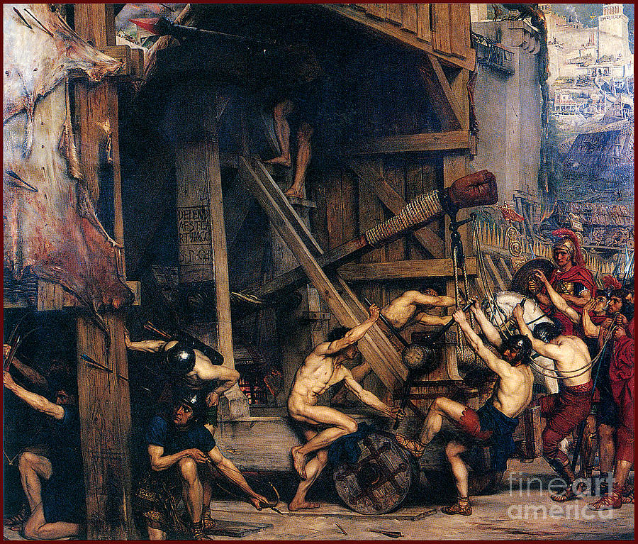 The Catapult 1868 Painting