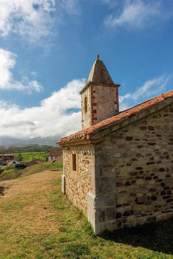 The Church Of San Andres In Paracuelles, Cantabria Photograph
