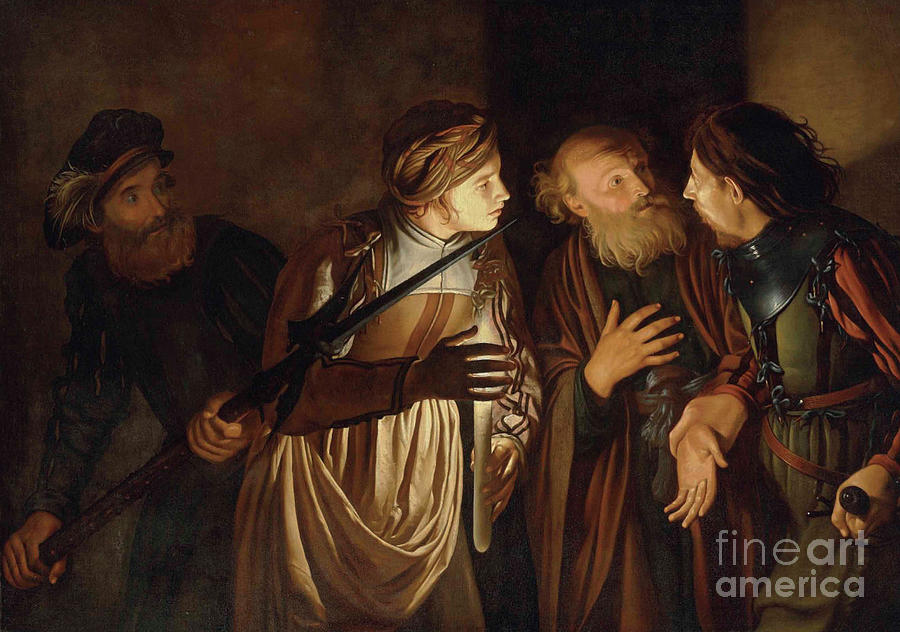 Coster Painting - The Denial of Saint Peter by Adam de Coster