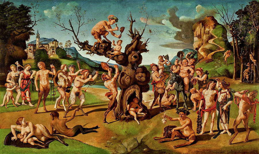 The Discovery of Honey by Bacchus by Piero di Cosimo