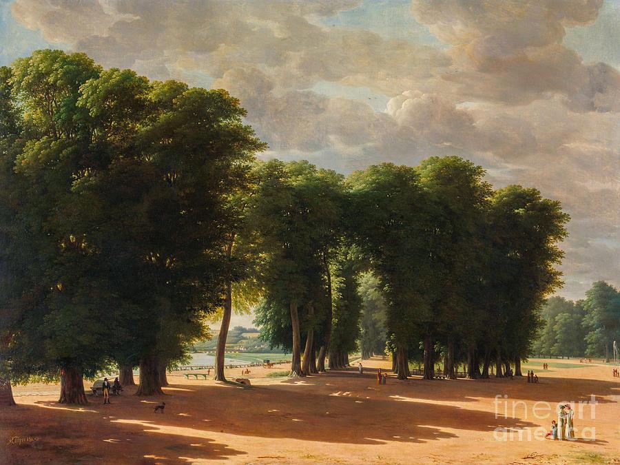 The Entrance To The Park Of Saint-cloud Paris Painting