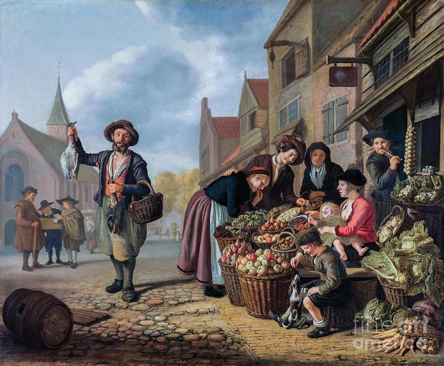 The Greengrocers Shop De Buyskool Painting