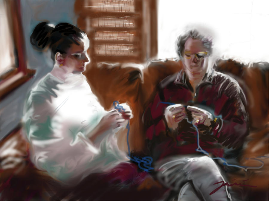 The Knitters by Jean Pacheco Ravinski